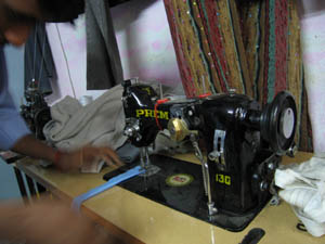The new sewing machine